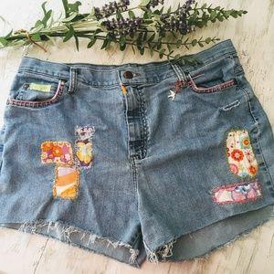 Lee Jeans Cut Off Shorts w/Vintage Italian Fabric